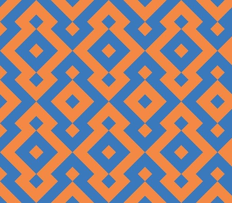 Geometric Pattern: Diamond / Red Wolf