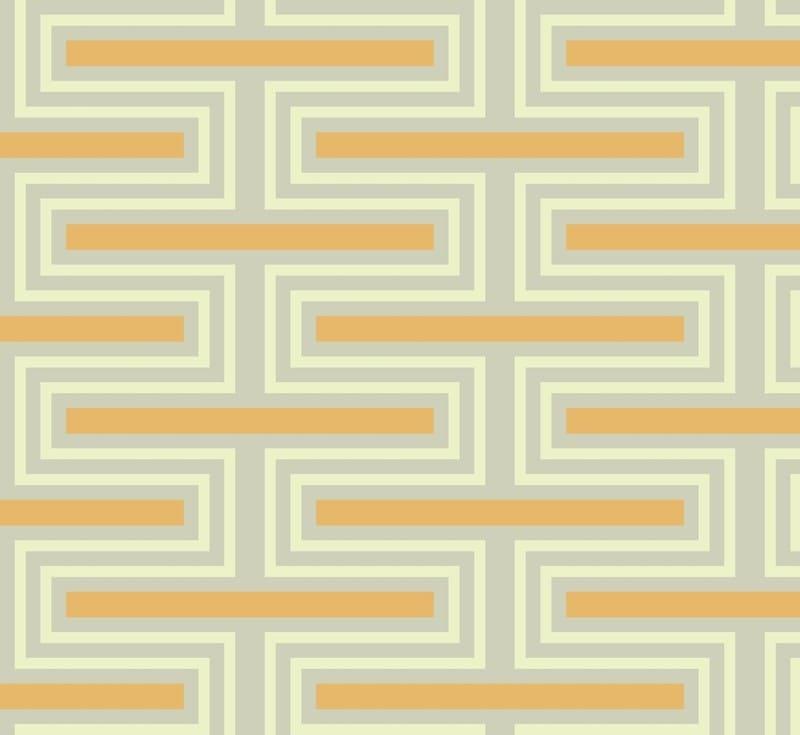 Geometric Pattern: Offset Brick / Red Wolf