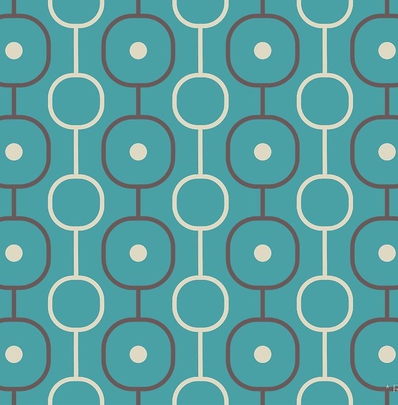 Geometric Pattern: Circle Chain / Red Wolf