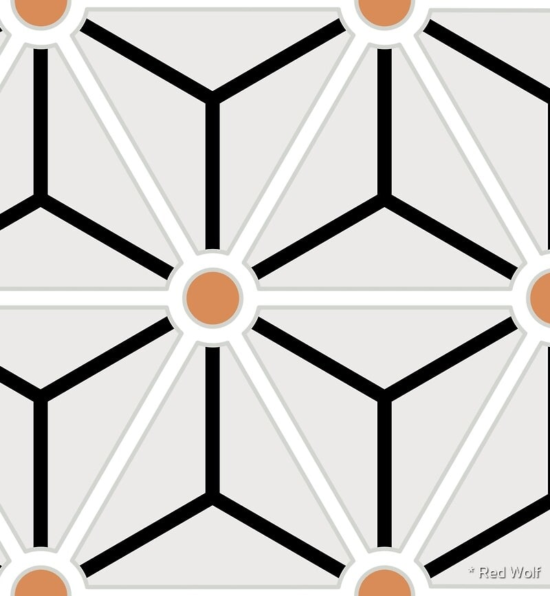 Geometric Pattern: Art Deco Star: Brookelyn Zammit / Red Wolf