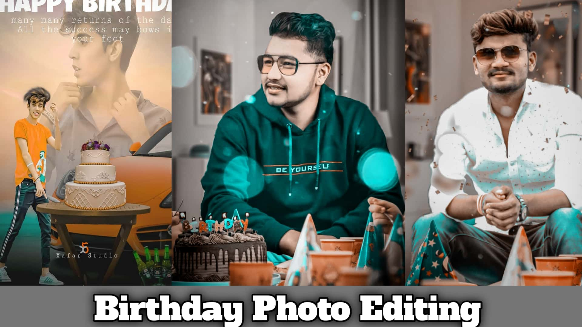 Birthday photo editing tutorial in picsart