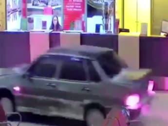 Man drives car through Russian airport terminal