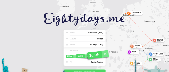 Pay less - get more! A system that generates and optimises multi-city trips in a few seconds. Around the World for $900. Around Europe for $150. Around Asia for $200. Find and book cheap flights on Eightydays! Combine fares and book multi-stop, low cost and last-minute flights worldwide.