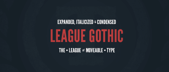 The League of Moveable Type — the first open-source font foundry