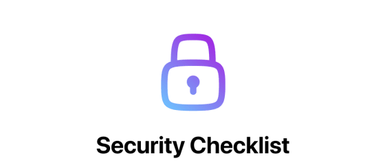 Security Checklist