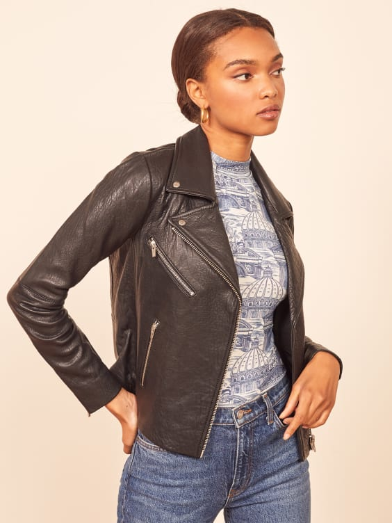 c260af89f Veda Bad Leather Jacket - Reformation