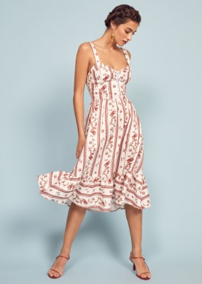 7efdcc2c87 This is a midi length dress with a sweetheart neckline