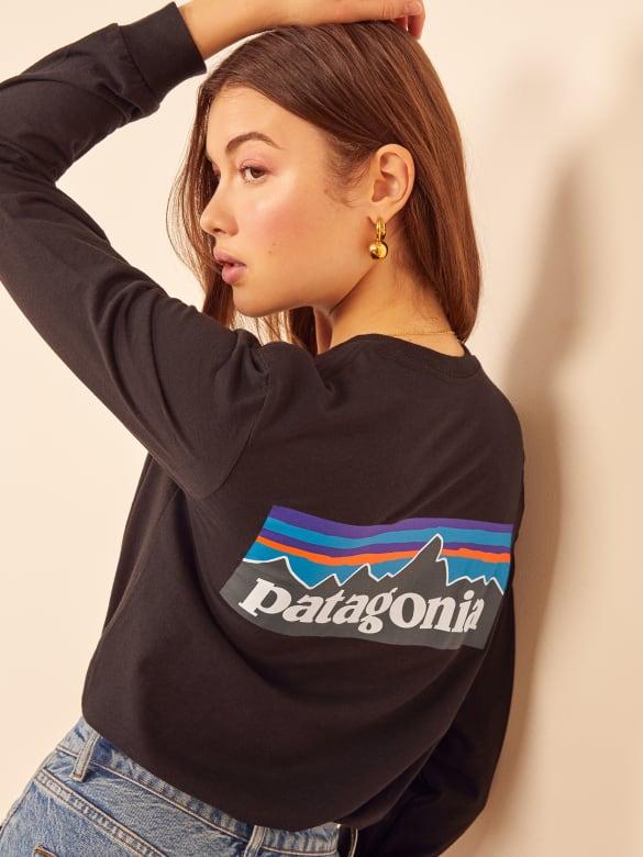 0c1f2e5e1a673 Patagonia Men S L S P-6 Logo T-Shirt - Reformation