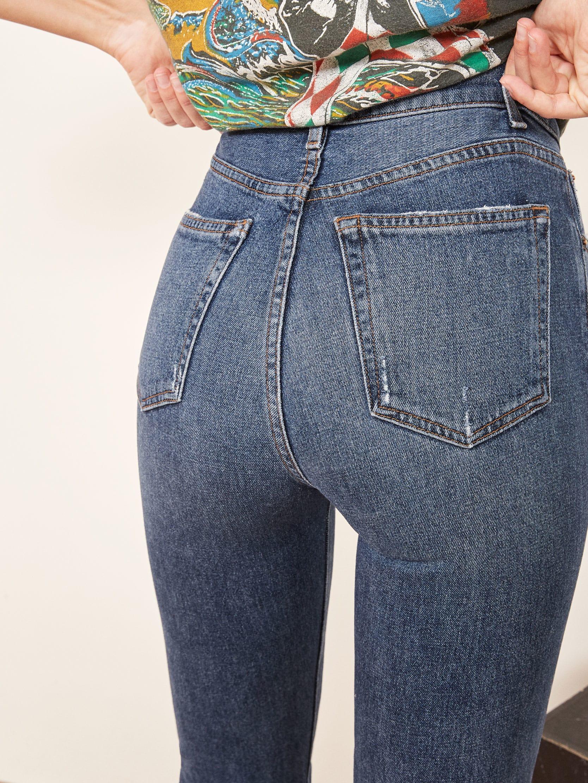 7da3e977b2d4f Liza High Straight Jean - Reformation