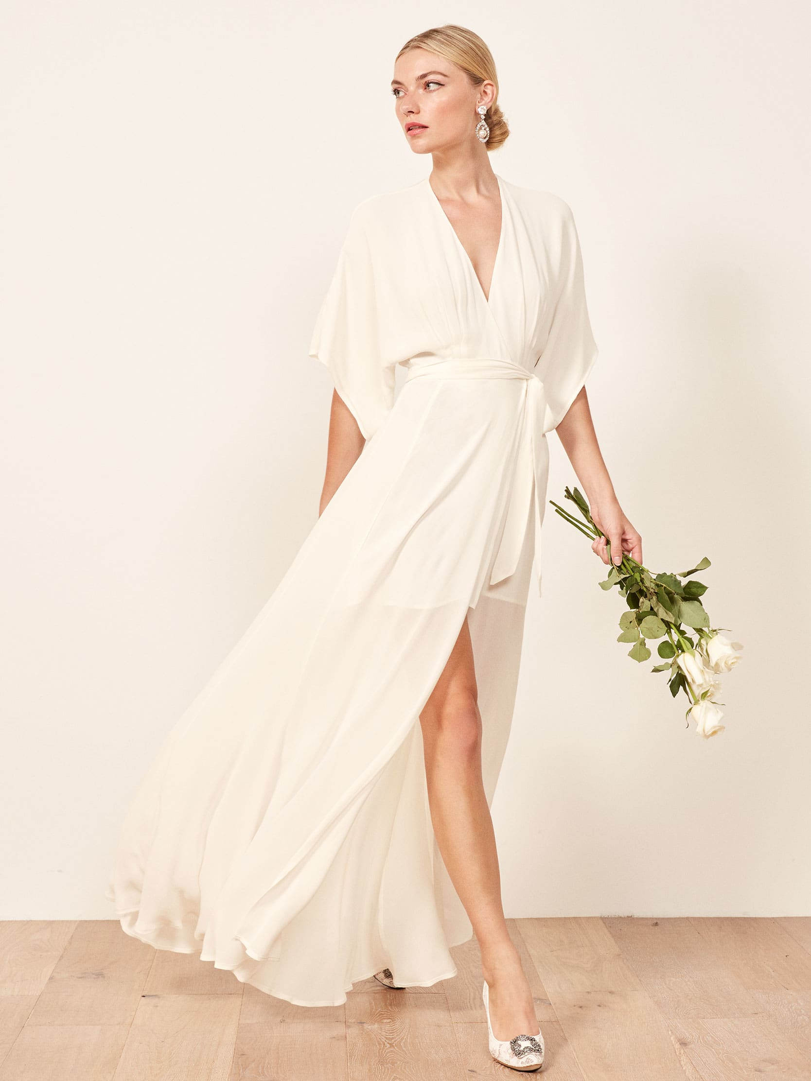 Ivory Party Dresses with Sleeves