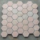 Lime pink limestone octagon