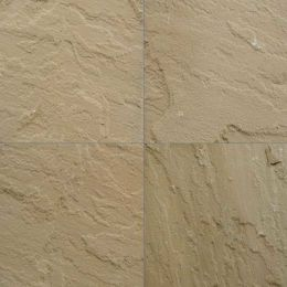 L Yellow sandstone tiles