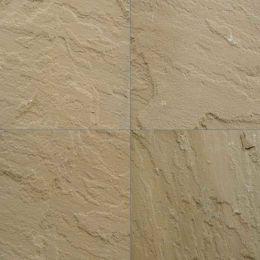 L Yellow sandstone tiles