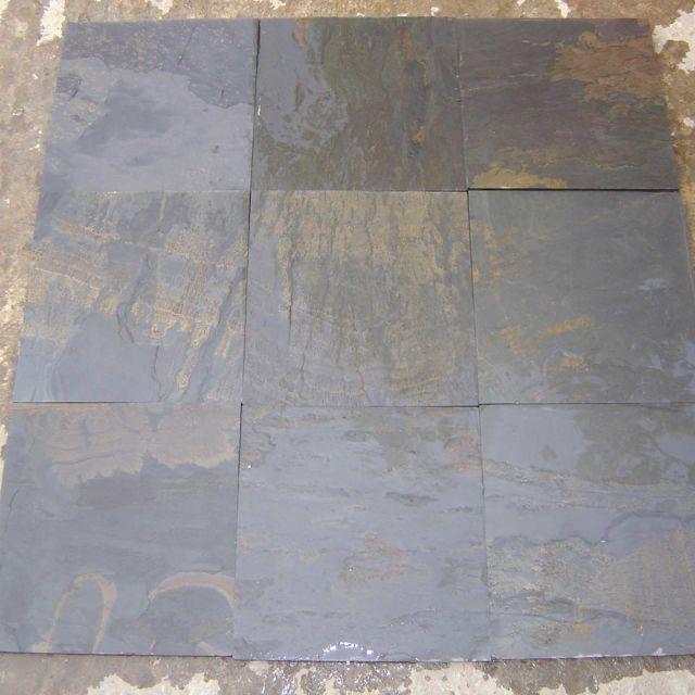 Wet Black Rustic slate