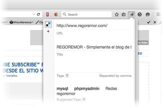 Compartir en Delicious desde Firefox