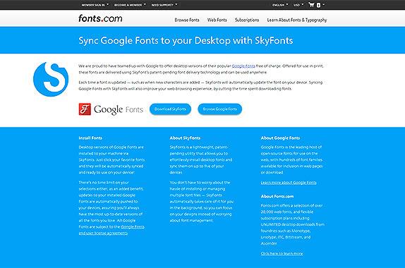 Google Fonts SkyFonts
