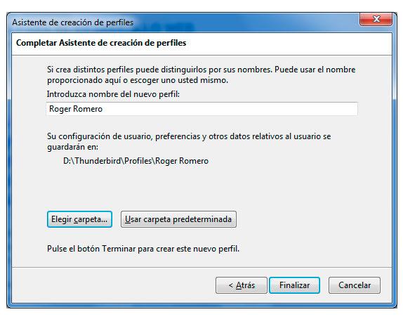 Mozilla Thunderbird Profile Folder