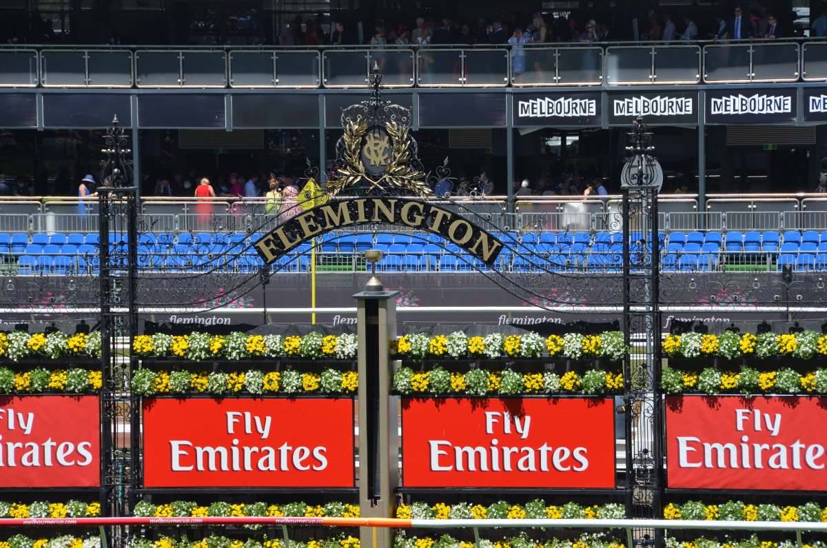 The Flemington Racecourse is home of the Melbourne Cup since 1861