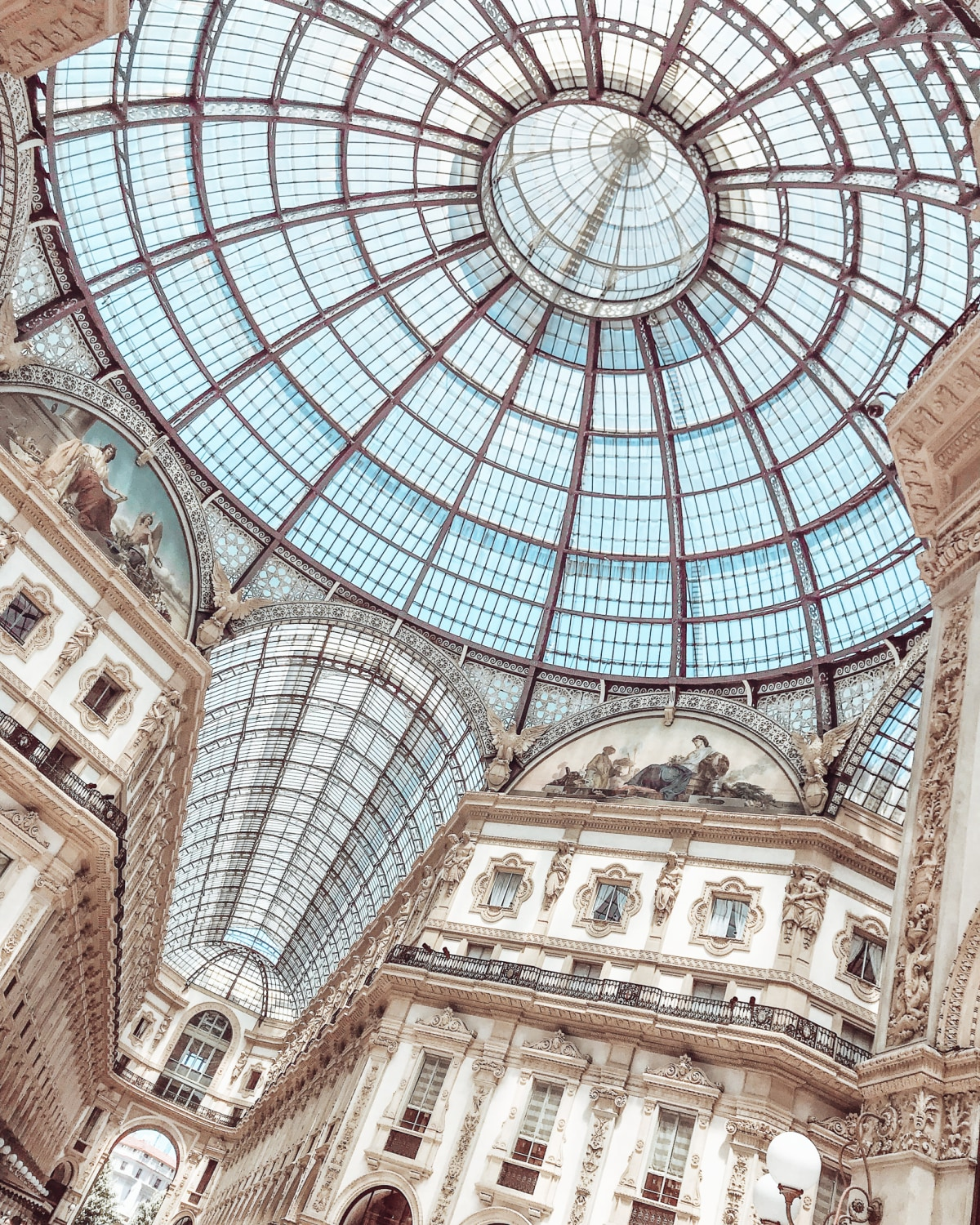 The magnificant glass ceilings and dome