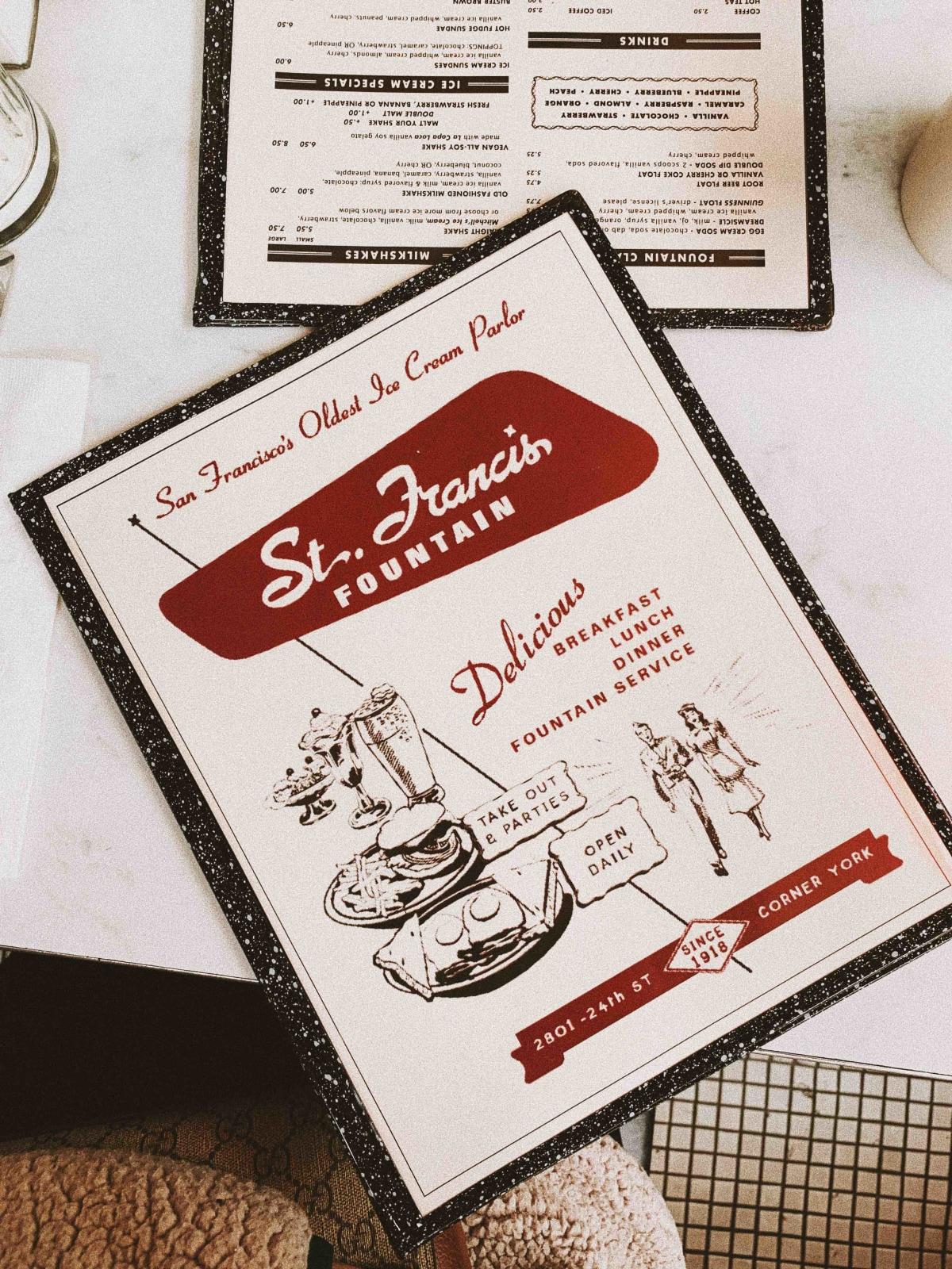 St. Francis menu