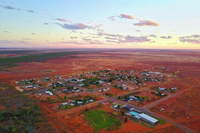 Example of village in the outback