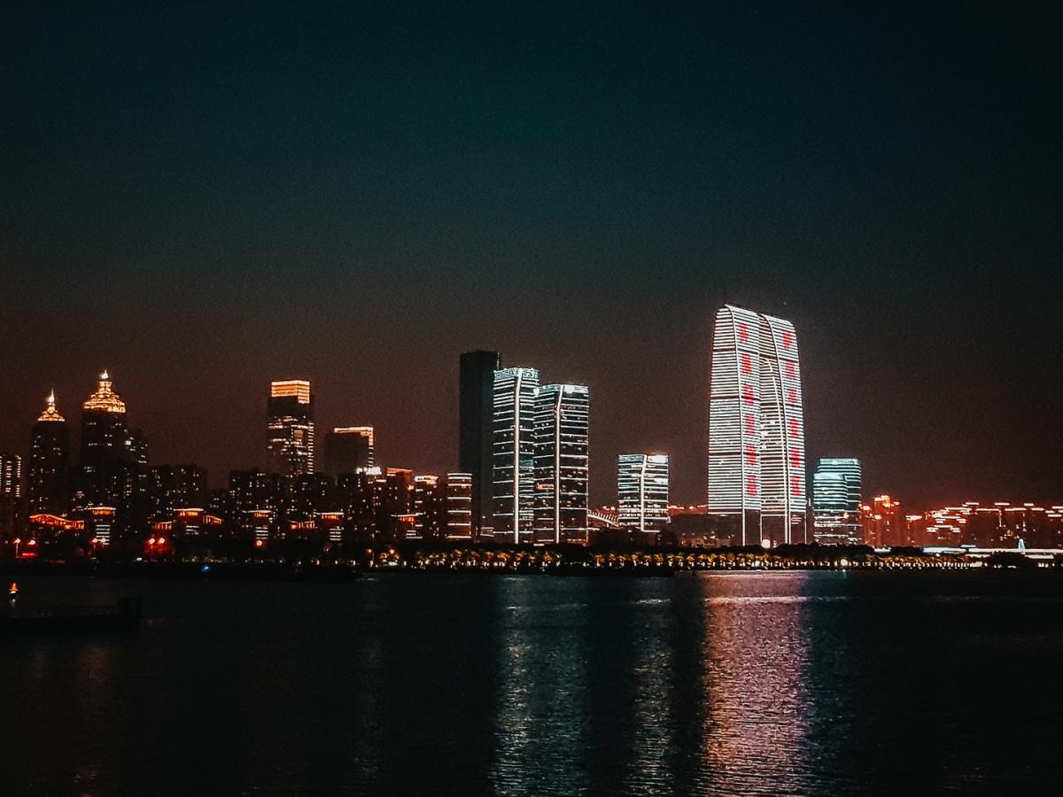 Suzhou city at night