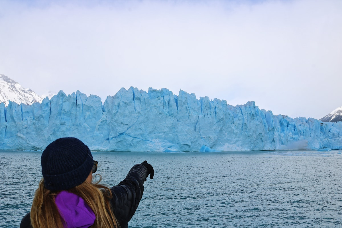 Spotting falling ice from the boat