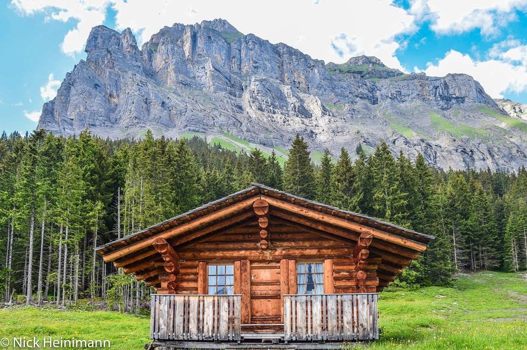 Traditional Swiss Hut.