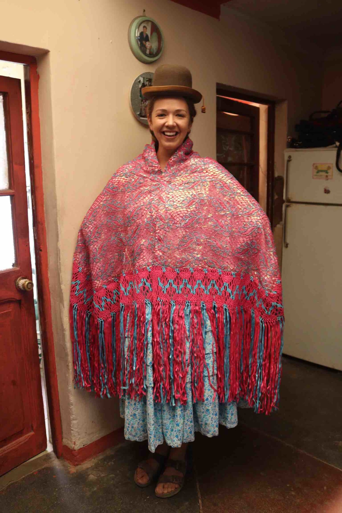 And I got to realise all my cholita dress up dreams!