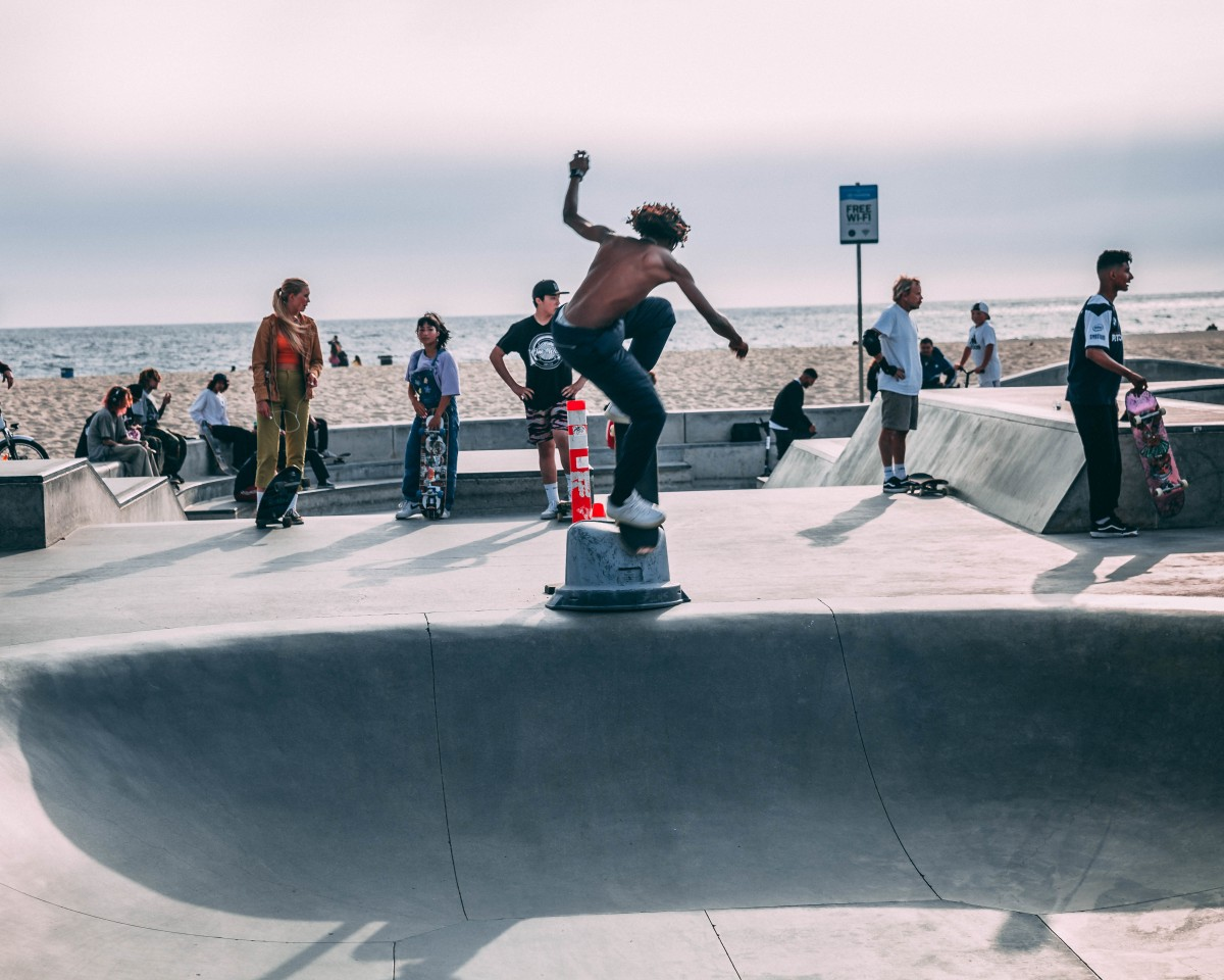 People from all walks of life come to the skate park  and skate as one.