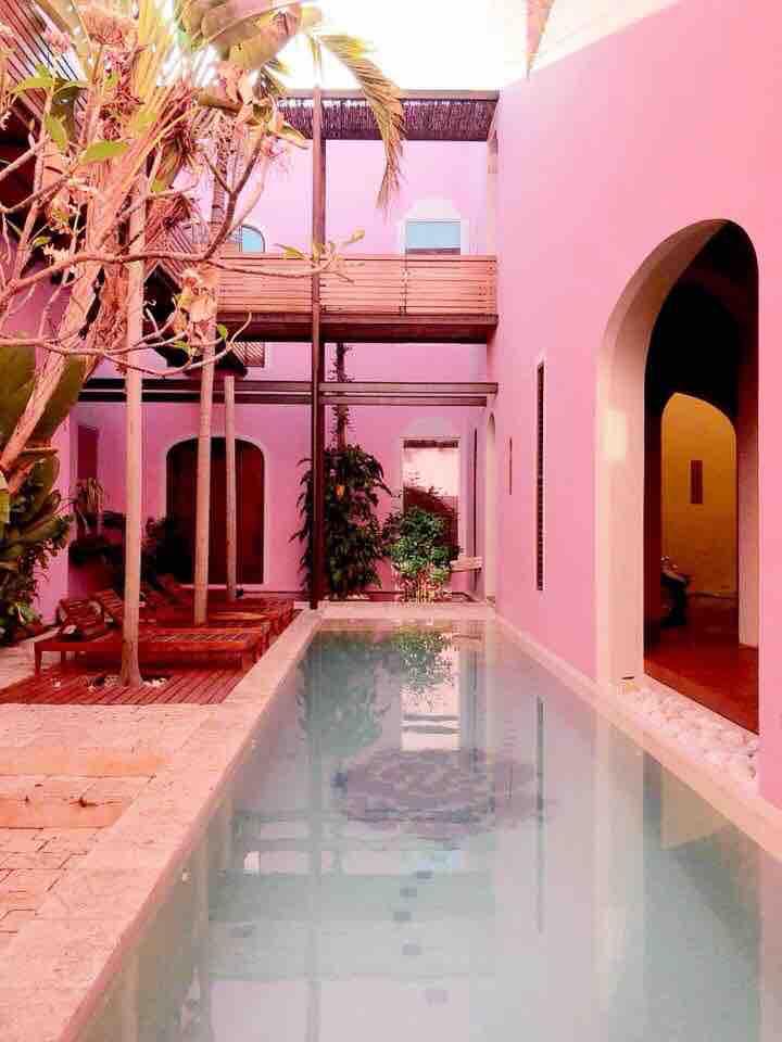 the gorgeous pool at Rosas \x26 Xocolate
