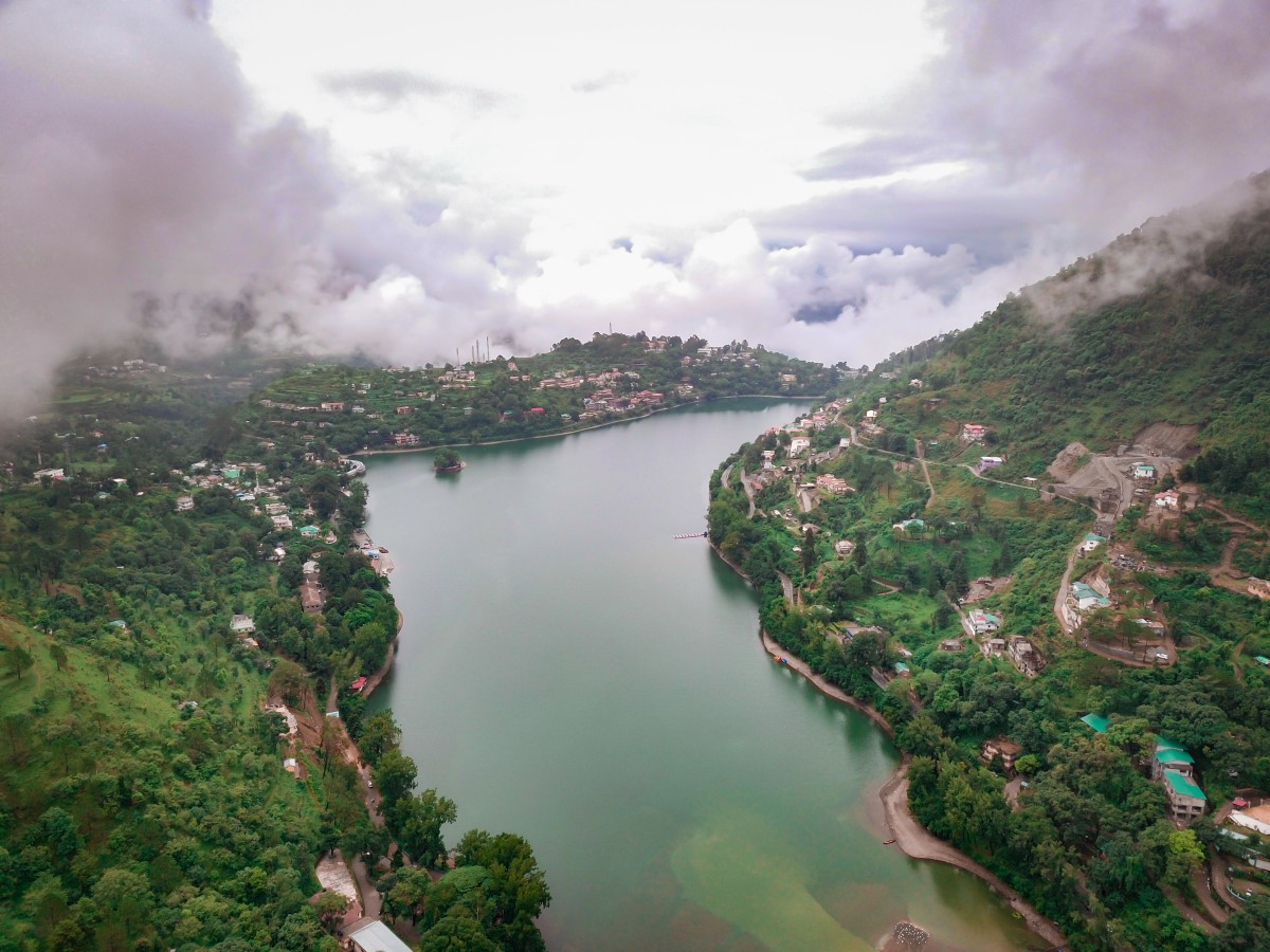 Aerial view of bhimtal