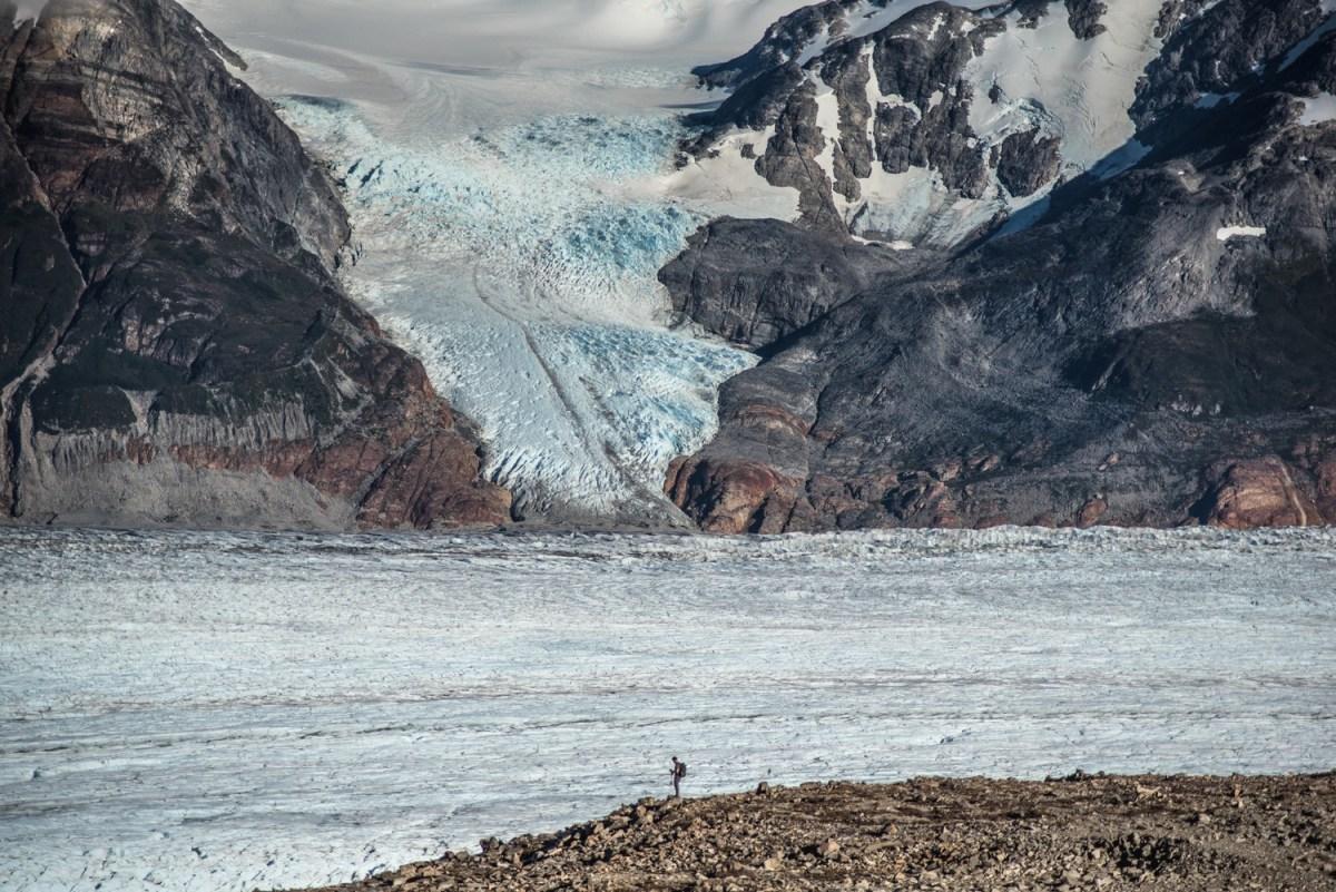 Chasing ice at John Gardner Pass