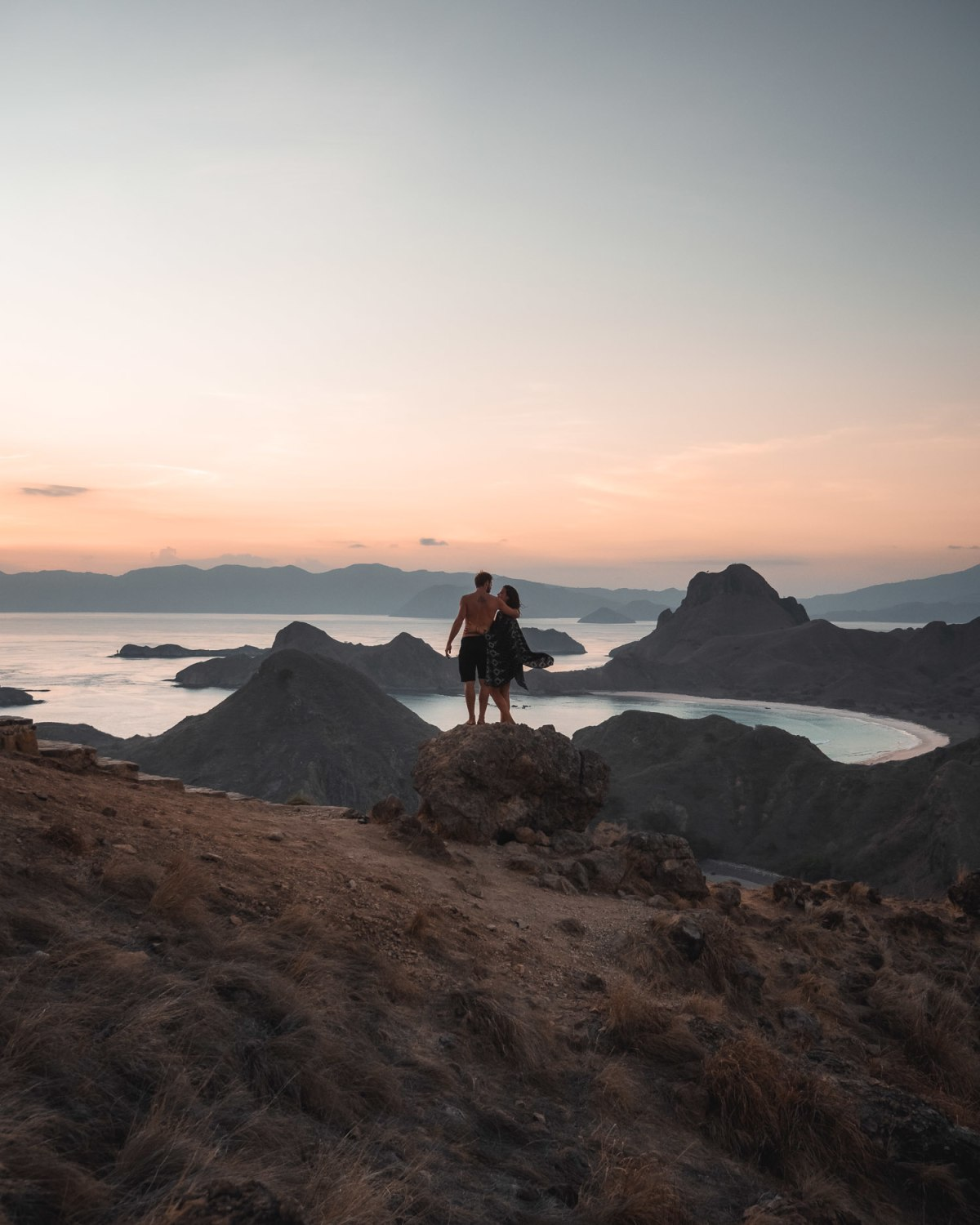 Incredible Sunset From The Top of Padar Island