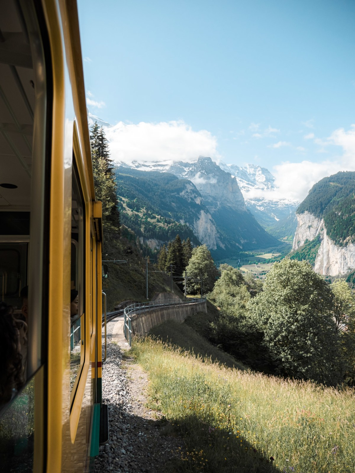 views from the train ride up to wengen