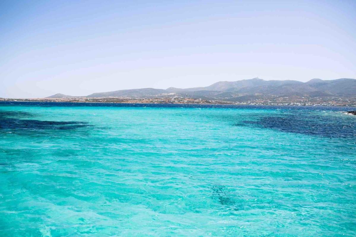 Blue waters of Paros.