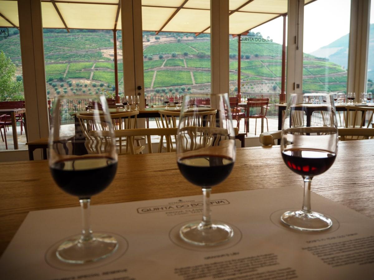 Tasting of Douro wine.