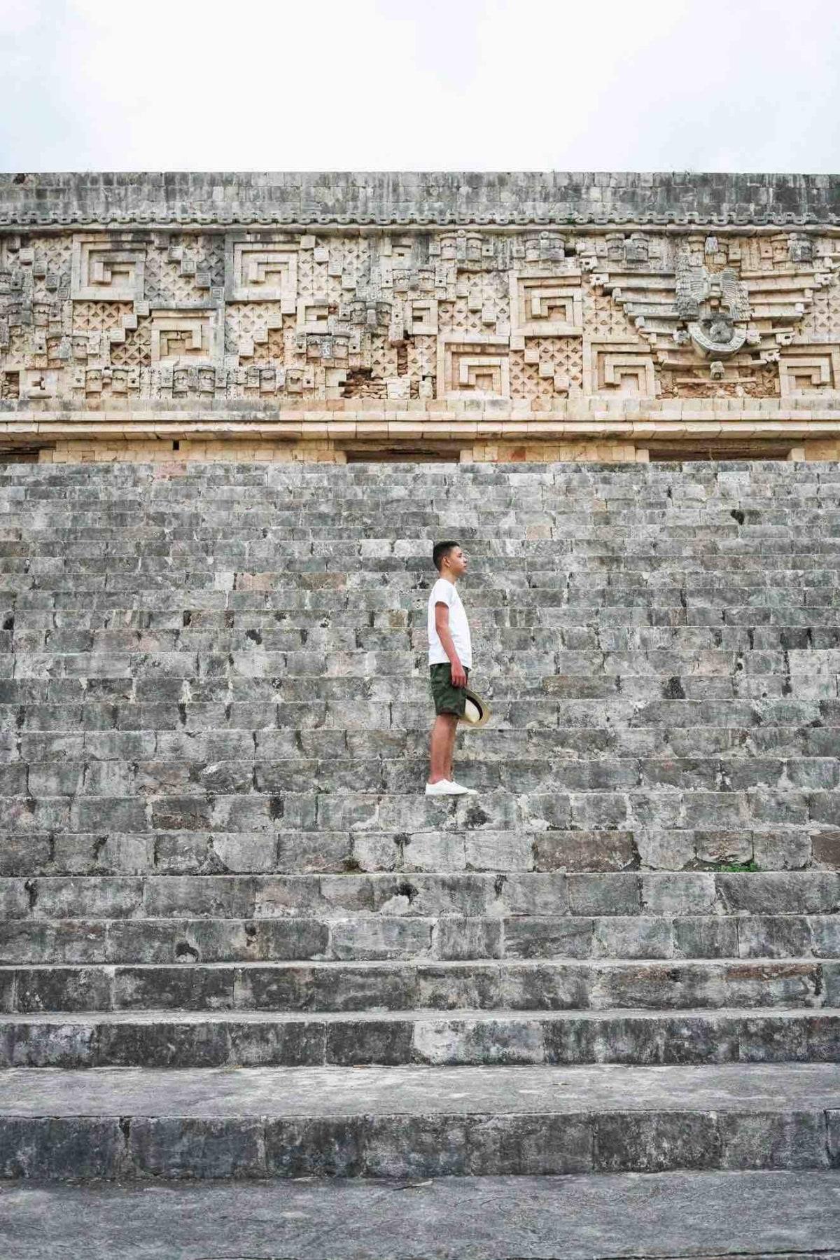 amazing details at uxamal ruins
