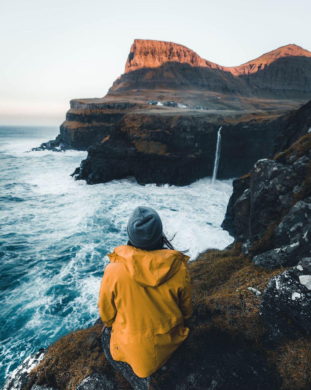 The Atlantic crashing against the cliffs
