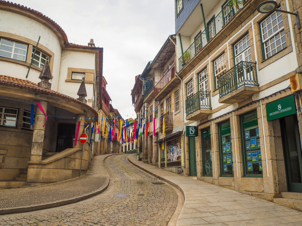 The streets of Amarante, in Portugal.