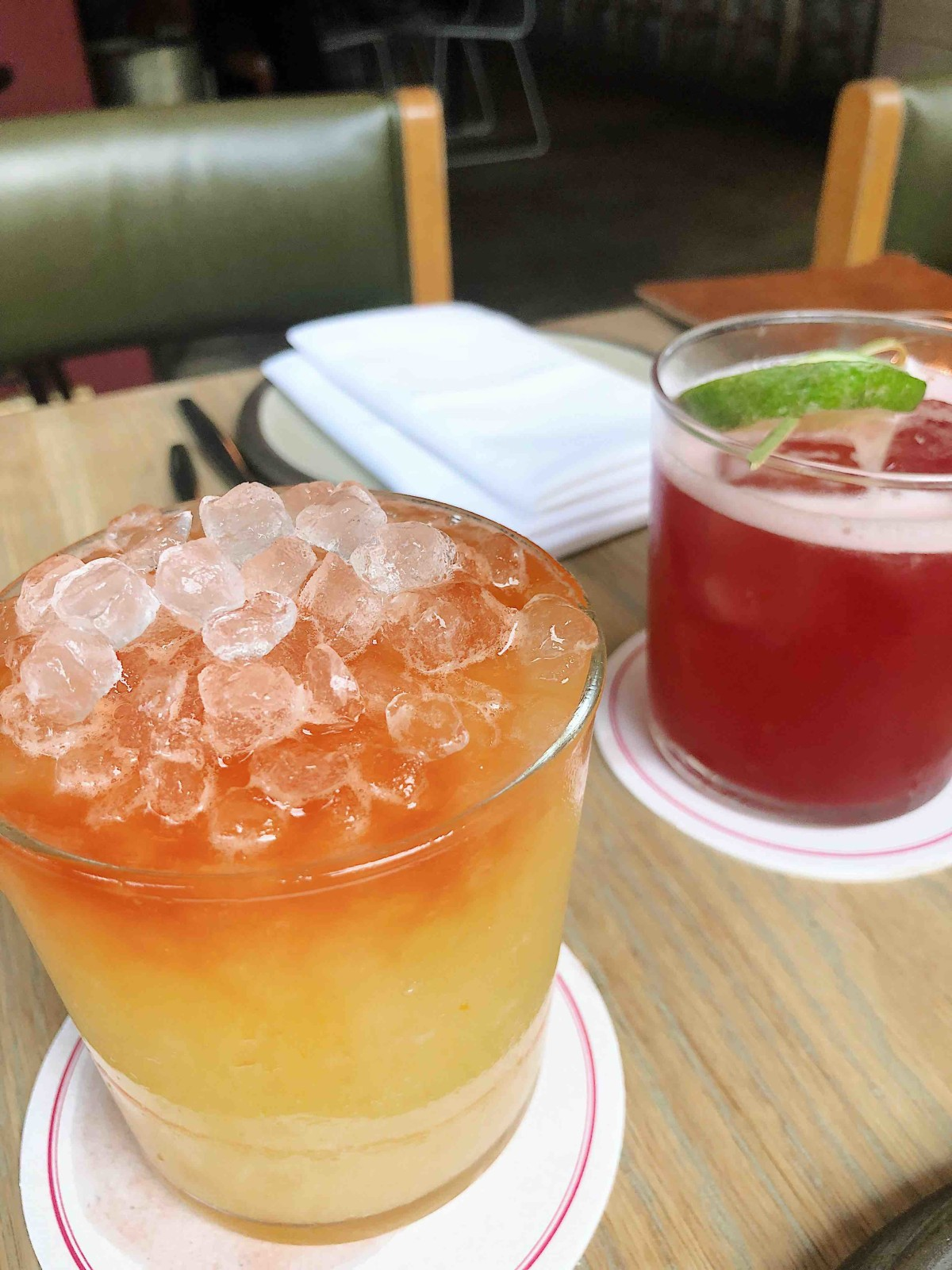 """My mezcal cocktail named """" A Touch of Evil """" was so good ."""