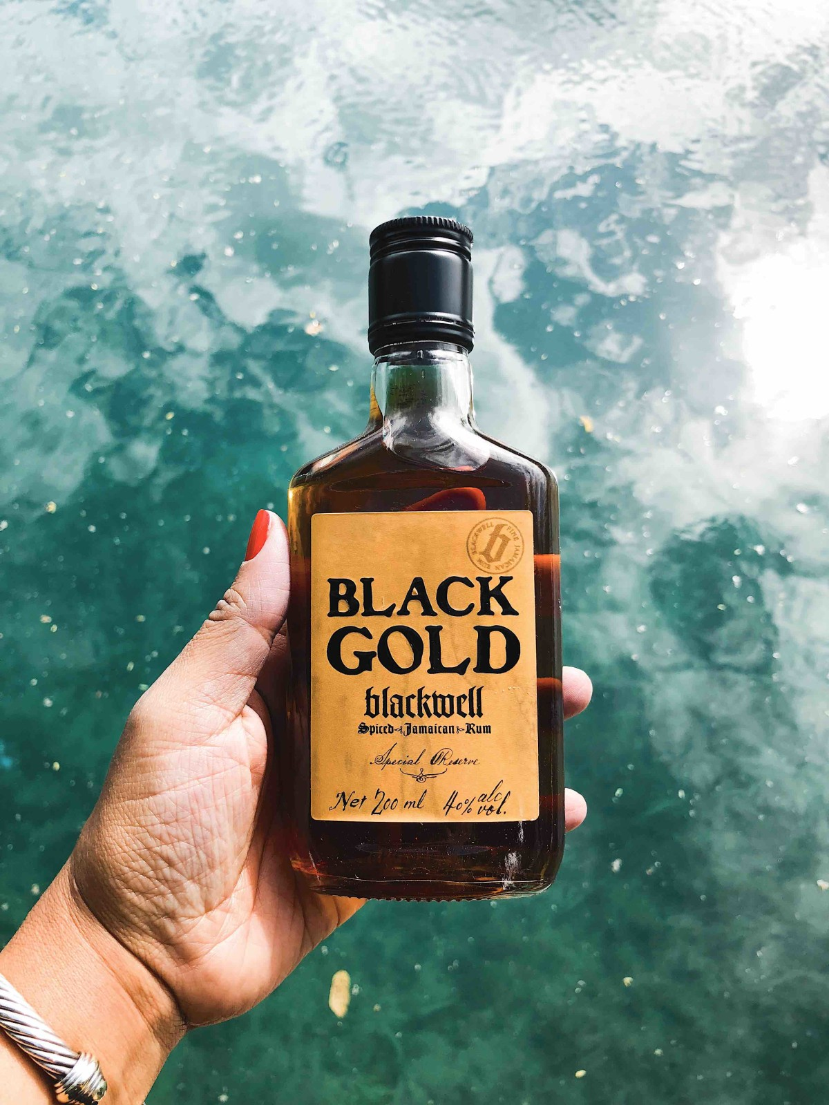 its all about Blackwell rum