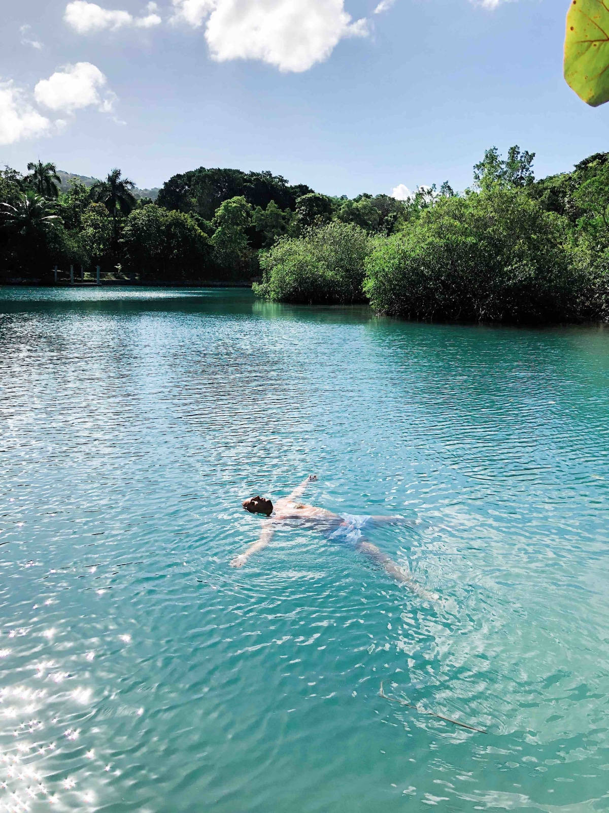 our lagoon cottage meant lingering days diving into the greenest waters