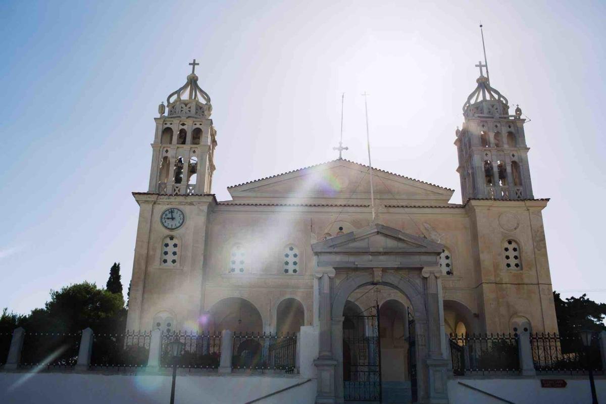 The ancient Church of Agia Triada.