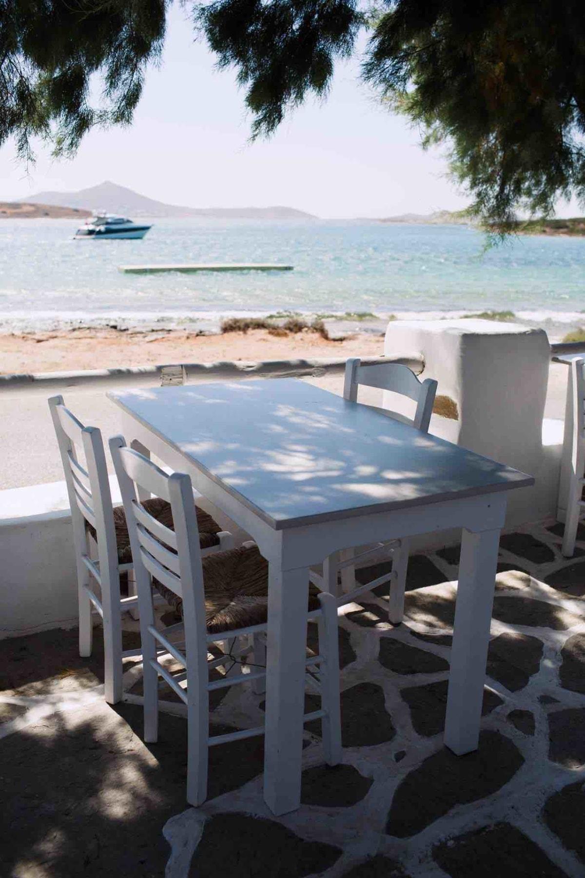 Seaside taverna Siparos in Paros, Greece