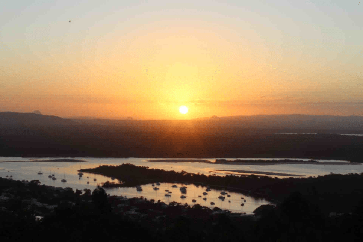 Sunset on the Noosa River