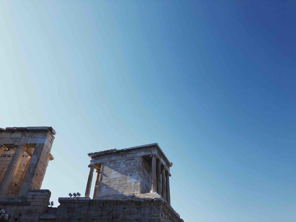 climbing to the acropolis