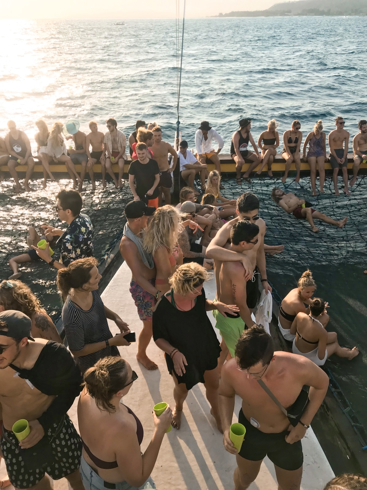 boat party in Gili T