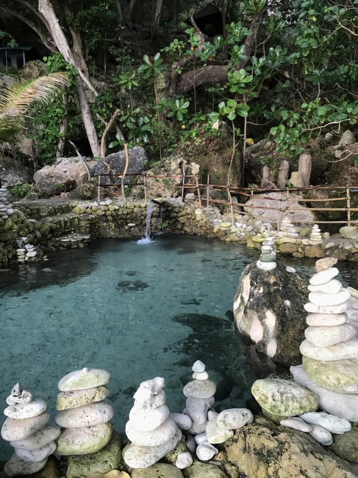 Natural pool by tembling beach