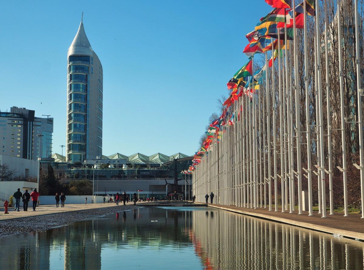 Parque das Nações, the most modern neighbourhood of Lisbon.
